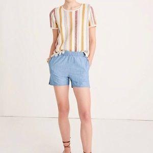 Like new Madewell denim stretch shorts